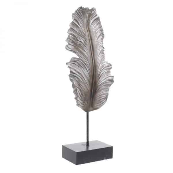 Inart Διακοσμητικό Φτερό Φυσικό μπεζ,Μέντα    Πολυρεσίνη 17x9x49 cm