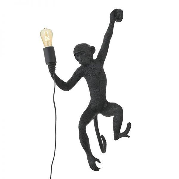 Inart Απλίκα Μαύρο Σίδερο  Συνθετικό / ΠΟΛΥΕΣΤΕΡ Πολυρεσίνη 32x32x68 cm