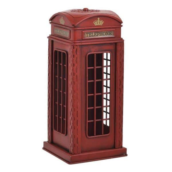 Inart Επιτραπέζιο Διακοσμητικό/Κουμπ Κόκκινο Σίδερο 12x12x28 cm