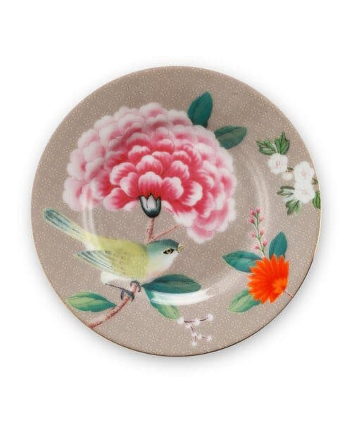 Πιατάκι Πορσελάνης Pip Studio Petit Four Blushing Birds Khaki 12cm