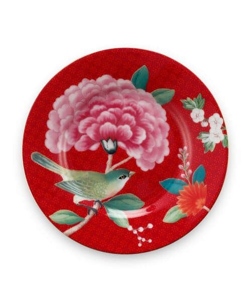 Πιατάκι Πορσελάνης Pip Studio Petit Four Blushing Birds Red 12cm