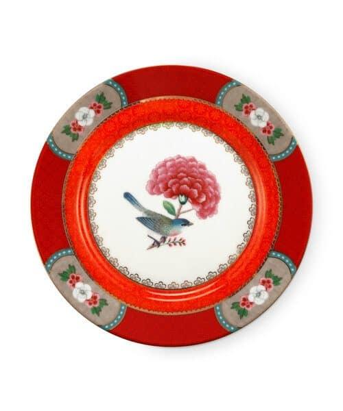 Πιάτο Γλυκού Πορσελάνης Pip Studio Blushing Birds Red 17cm