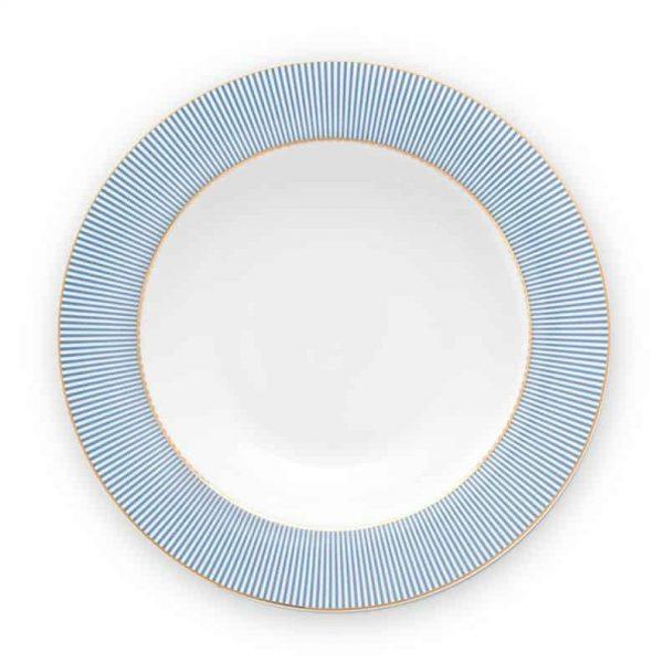 Πιάτο Βαθύ Πορσελάνης Pip Studio La Majorelle Blue 21,5cm