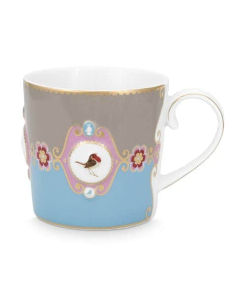 Κούπα Πορσελάνης Pip Studio Love Birds Medallion Blue-Khaki 150ml