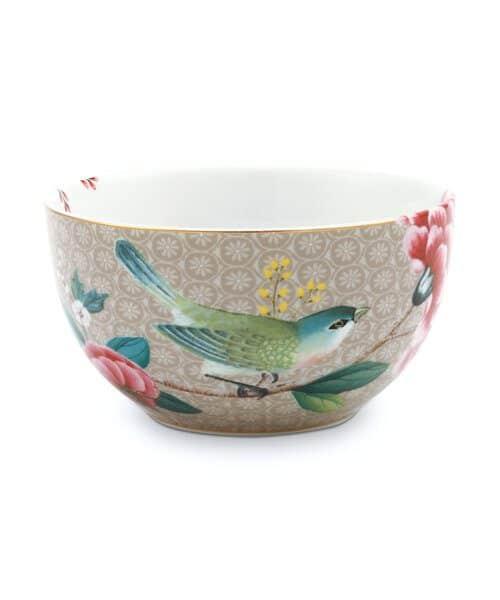 Μπολ Πορσελάνης Pip Studio Blushing Birds Khaki 12cm