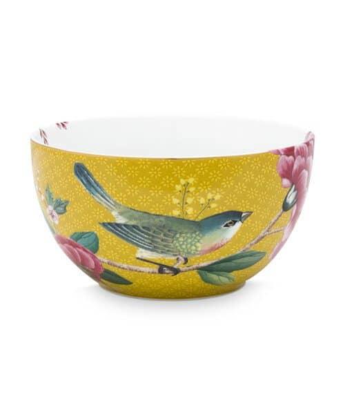 Μπολ Πορσελάνης Pip Studio Blushing Birds Yellow 12cm