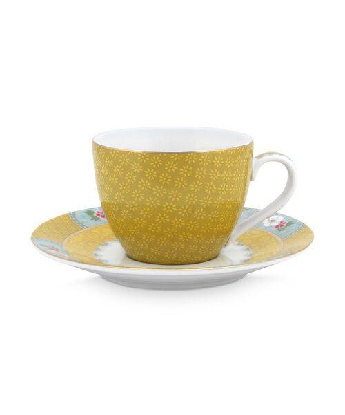 Φλιτζάνι Espresso Πορσελάνης Pip Studio Blushing Birds Yellow 120ml