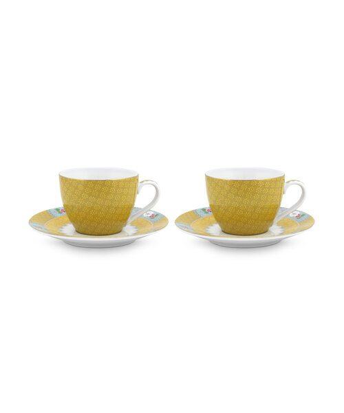 Σετ 2 Φλιτζάνια Espresso Πορσελάνης Pip Studio Blushing Birds Yellow 120 ml