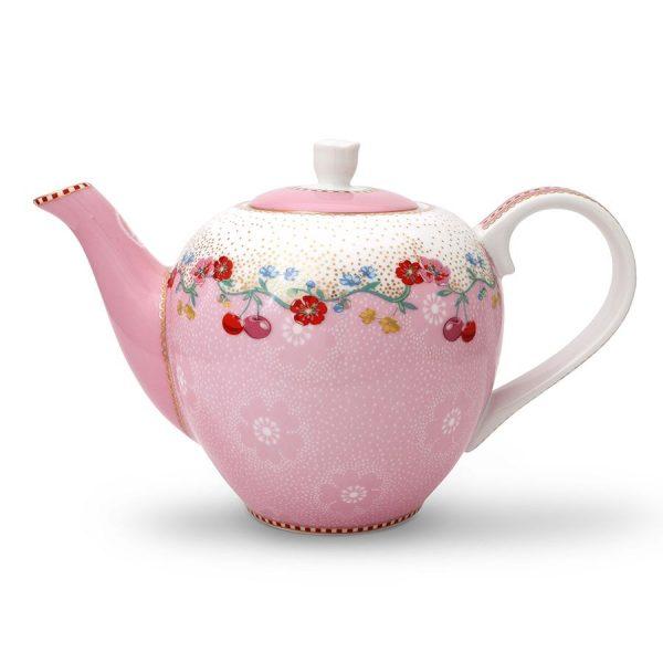 Μικρή Τσαγιέρα Πορσελάνης Pip Studio Cherry Pink 750ml