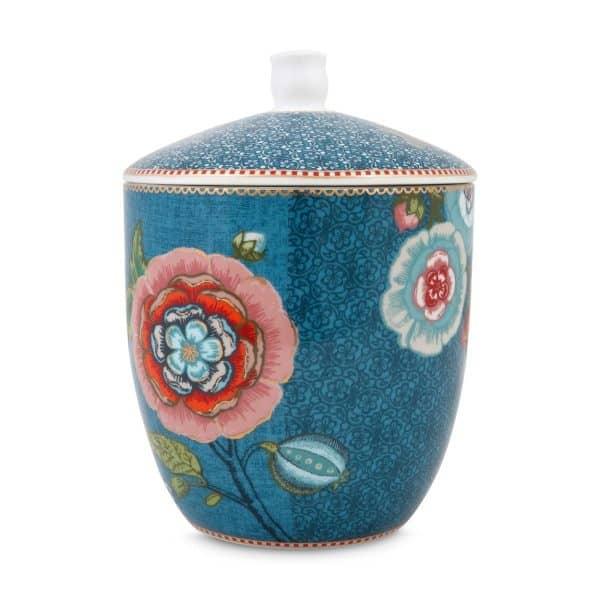Βάζο Αποθήκευσης Πορσελάνης Pip Studio Spring To Life Blue 21cm