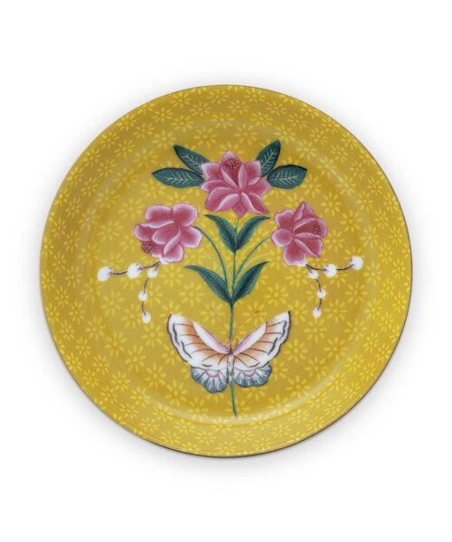 Πιατάκι Τσαγιού Πορσελάνης Pip Studio Blushing Birds Yellow 9cm