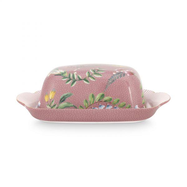 Βουτυριέρα Πορσελάνης Pip Studio La Majorelle Pink 20x14x6,5cm