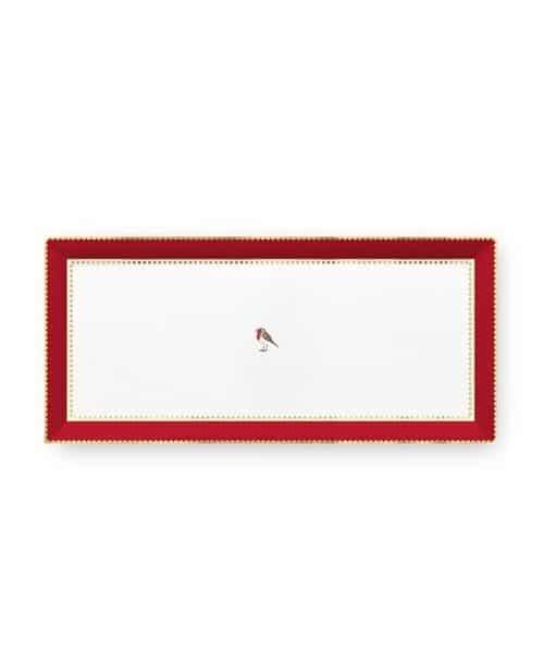 Δίσκος Πορσελάνης Pip Studio Love Birds Red-Pink 33.3x15.5cm