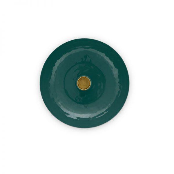 Χαμηλό Μεταλλικό Κηροπήγιο Pip Studio Dark Green 16cm