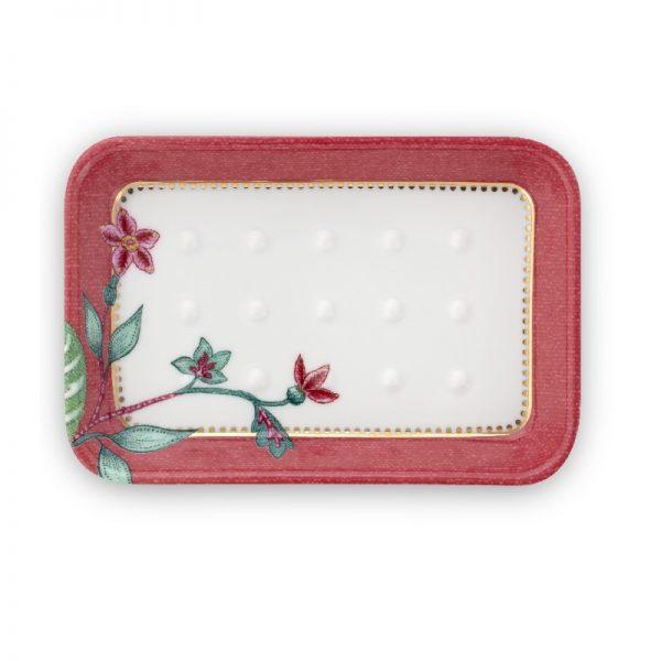 Σαπουνοθήκη Πορσελάνης Pip Studio Jambo Flower Pink 14x 9,5cm