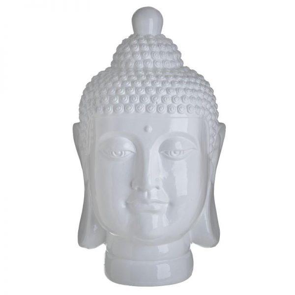 Inart Βούδας Λευκό-Ελεφαντόδοντο    Κεραμικό 24x22x40 cm
