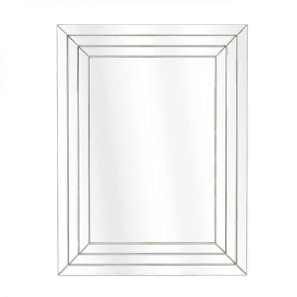 Inart Καθρέπτης Τοίχου     Πλαστικό,Γυαλί 56x5x74 cm