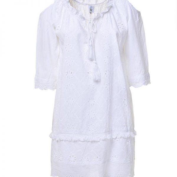 Inart Φόρεμα Λευκό