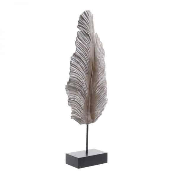 Inart Διακοσμητικό Φτερό Φυσικό μπεζ,Μέντα    Πολυρεσίνη 22x9x60 cm
