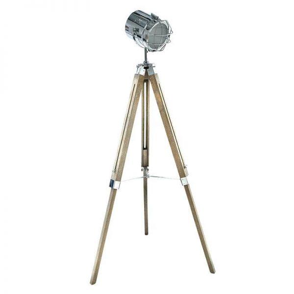 Inart Φωτιστικό Επιδαπέδιο Φυσικό μπεζ,Ασήμι Σίδερο Birch 64x64x155 cm