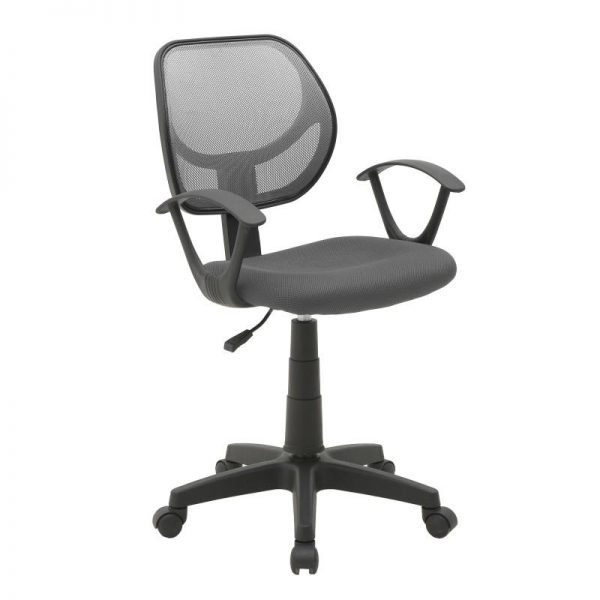 Inart Καρέκλα Γραφείου Μαύρο,Γκρί 56x56x95 cm