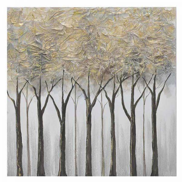 Inart Πίνακας Καμβάς Multi  Birch Καμβάς 80x3x80 cm