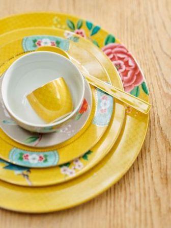 Πιάτο Φαγητού Πορσελάνης Pip Studio Blushing Birds Yellow 26.5cm