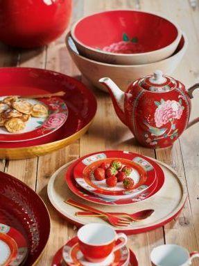 Μπολ Πορσελάνης Pip Studio Blushing Birds Red 12cm