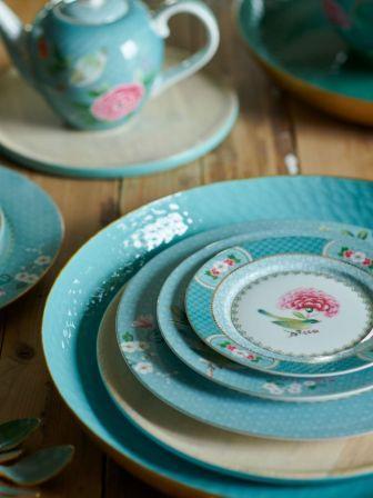 Πιάτο Σούπας Πορσελάνης Pip Studio Blushing Birds Blue 21.5cm