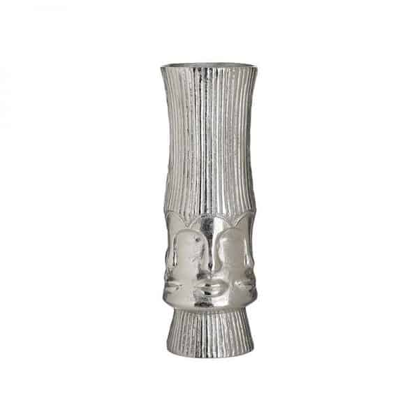Inart Βάζο Ασήμι Αλουμίνιο 12x12x35 cm