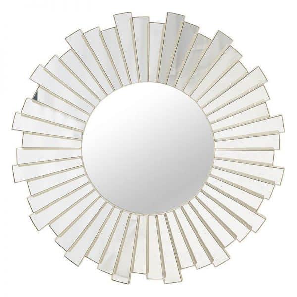Inart Καθρέπτης Τοίχου     Γυαλί,Πλαστικό 60x4x60 cm