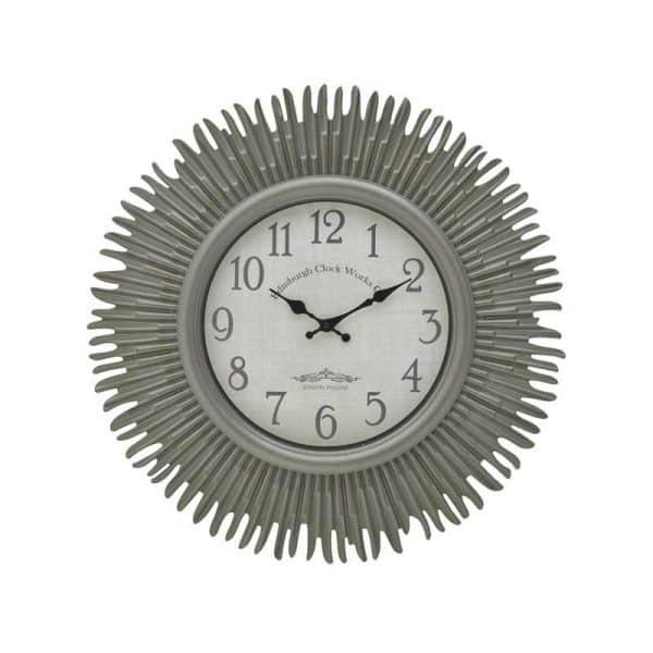 Inart Ρολόι Τοίχου Γκρί    Πλαστικό 58x4x58 cm