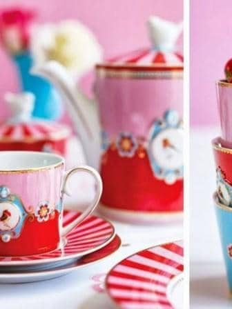 Κούπα Πορσελάνης Pip Studio Love Birds Medallion Red-Pink 150ml