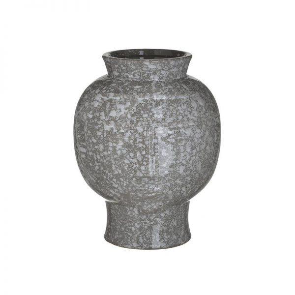 Inart Βάζο Γκρί    Κεραμικό 19x19x24 cm