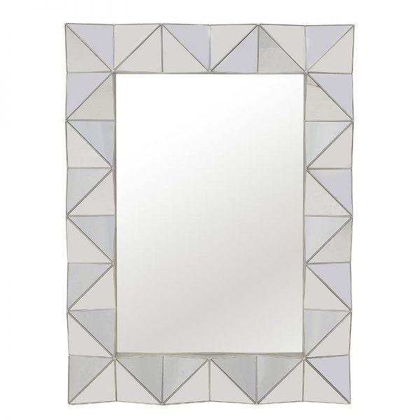 Inart Καθρέπτης Τοίχου     Πλαστικό,Γυαλί 56x4x73.5 cm