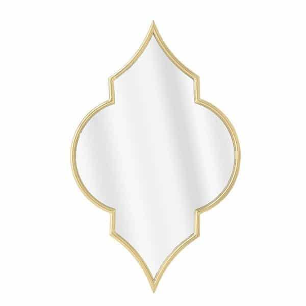 Inart Καθρέπτης Τοίχου Χρυσό Σίδερο   Γυαλί 58x3x92 cm