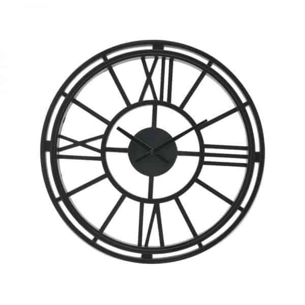 Inart Ρολόι Τοίχου Μαύρο    Πλαστικό 50x3x50 cm