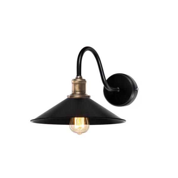 Φωτιστικό Τοίχου Μαύρο Ματ Φ22x25cm