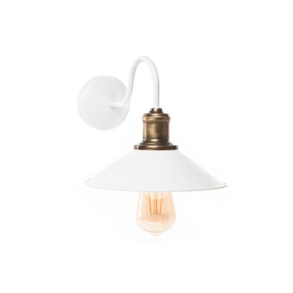 Φωτιστικό Τοίχου Λευκό Ματ Φ22x25cm
