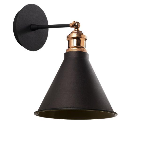 Φωτιστικό Τοίχου Μεταλλικό Μαύρο Ματ E27 18x28x25cm