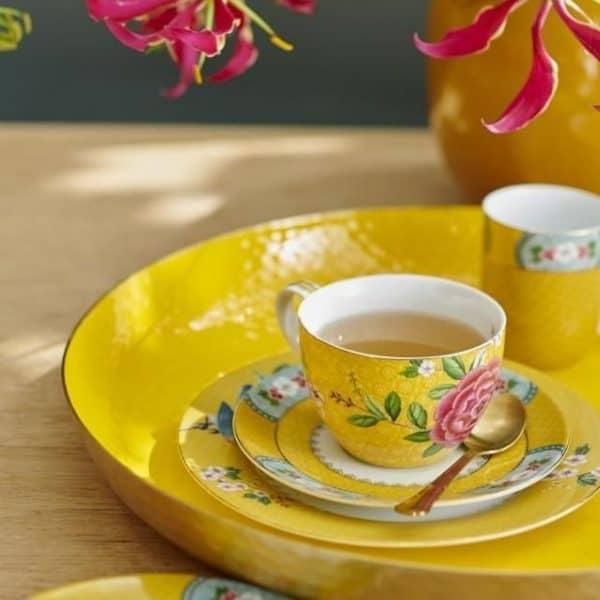 Σετ 2 Φλιτζάνια Τσαγιού Πορσελάνης Pip Studio Blushing Birds Yellow 280ml