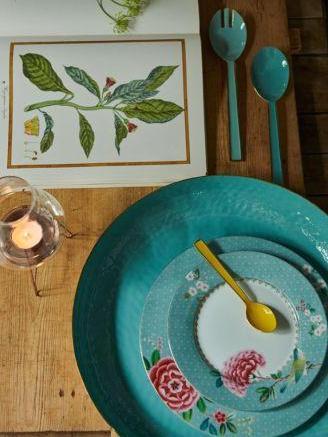 Πιάτο Πρωϊνού Πορσελάνης Pip Studio Blushing Birds Blue 21cm