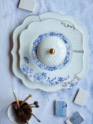Πιάτο Πρωϊνού Πορσελάνης Pip Studio Royal White 23.5cm
