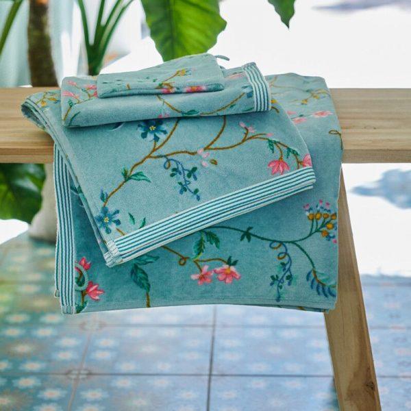 Πετσέτα Χεριών Pip Studio Les Fleurs Blue Cotton 30x50cm