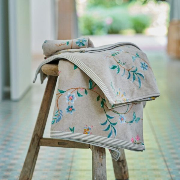 Πετσέτα Μπάνιου Pip Studio Les Fleurs Khaki Cotton 140x70cm
