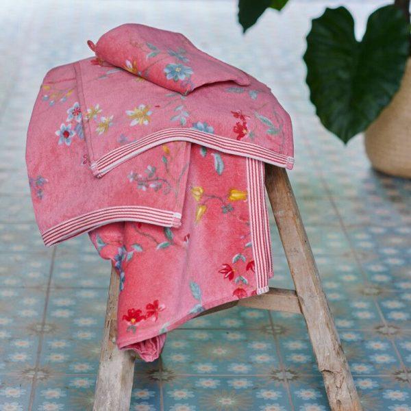 Πετσέτα Μπάνιου Pip Studio Les Fleurs Pink Cotton 140x70cm