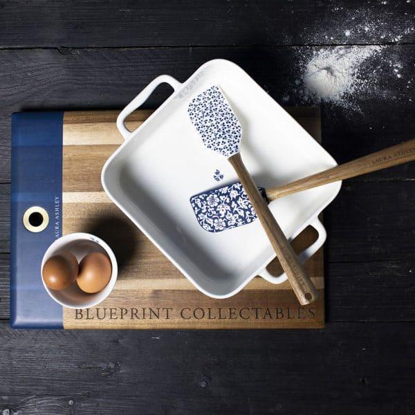 Ξύλινο Πλατώ Σερβιρίσματος Laura Ashley Blueprint 45x30cm
