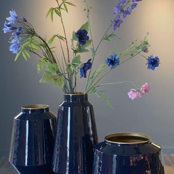 Μεταλλικό Βάζο Pip Studio Royal Blue 22cm