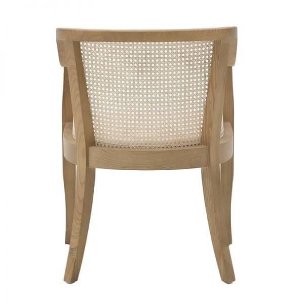 Inart Πολυθρόνα Φυσικό μπεζ,Καφέ  Elm 50x47x80 cm
