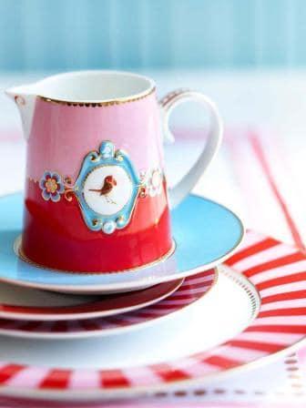 Γαλατιέρα Πορσελάνης Pip Studio Love Birds Medallion Red-Pink 270ml